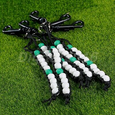 New Golf Bag Bead Counter Easy To Use Green White Keyring Clip Scoring Accessory