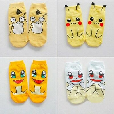 Cosplay Cotton Pokemon Mint Terrapins And Duck Pikachu Short Socks Cartoon