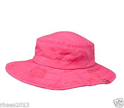 GIRLS Sun Protection Zone Safari Hat With Pink Sharks - UPF 50+ 3/10 Years