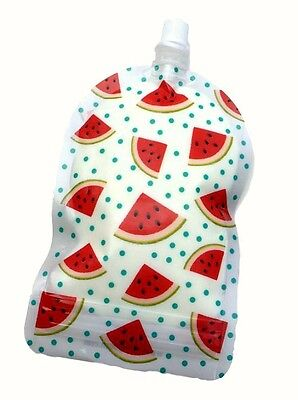 NEW My Lil Pouch Watermelon 140ml 5 Pack Food Reusable Baby Kids Infant BPA Free