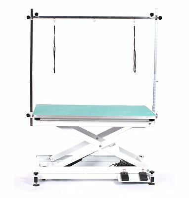 Pedigroom professional electric dog pet grooming table with H frame bar green