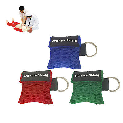 First Aid Mini CPR Keychain Mask / Face Shield Barrier Kit Health Care WL