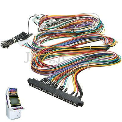 Wiring Harness Cable DIY Kit Parts Assemble For Arcade Jamma Board Machine