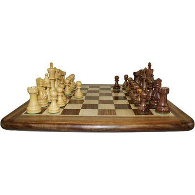"Hand Carved Wooden Chess Set 40cm (16"")"