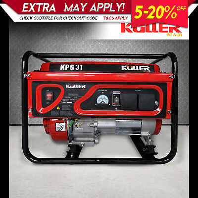 Single Phase Rated 2800W Max 3100W Power Generator Petrol 4-Stroke Recoil Start