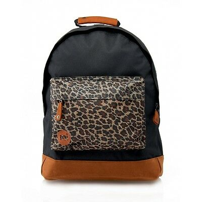 MI-PAC Backpack Black/Leopard Pocket School Bag 740203-325 **FREE HARIBO