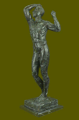 COLLECTIBLE BRONZE SCULPTURE STATUE Abstract Signed Rodin Abstract Modern Nude