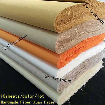 10pcs Chinese Rice Paper Long Fiber Xuan Paper For Calligraphy Painting Handmade