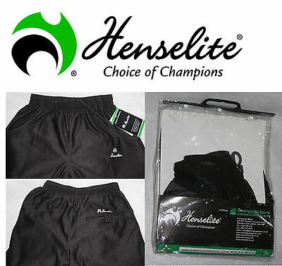 Henselite Teflon Coated Sports Bowls Trousers Black-White-Grey