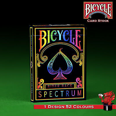 Spectrum Rainbow Bicycle Playing Cards Deck - Genuine Bicycle  + special cards