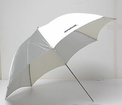 Westcott  42-Inch Optical White/Silver Satin Collapsible Umbrella NICE!!!