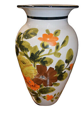 Large Tuscan Style Floral Vase
