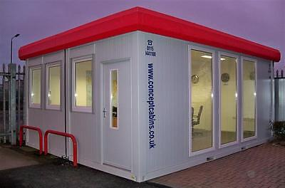New Executive Modular Building 20' x 16' / 6m x 4.8m / 2 Bay Open Plan