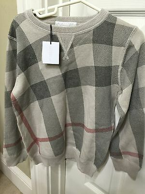 New Authentic Boy Burberry Sweater Size 6Y