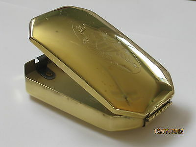 Ted Cash Early 1700's Brass Tinder Box W/ Eagle Emblem on Lid
