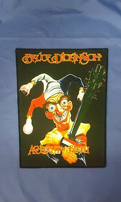 Bruce Dickinson Large Sew On Printed Back Patch Dio Elixir Saxon Raven Udo Cd Lp