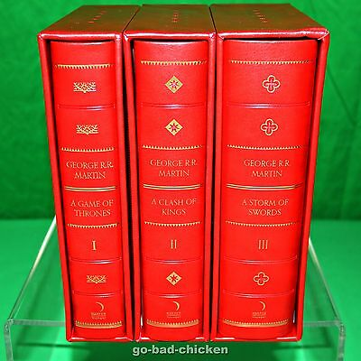 A GAME OF THRONES George RR Martin Gilded LEATHER BOUND SlipCase LIMITED EDITION