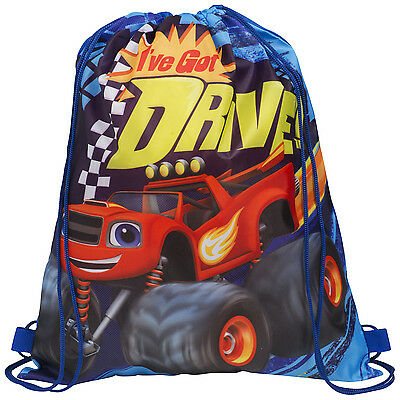 OFFICIAL Blaze and the Monster Machines Boys Drawstring PE Kit Shoe Bag (NEW)