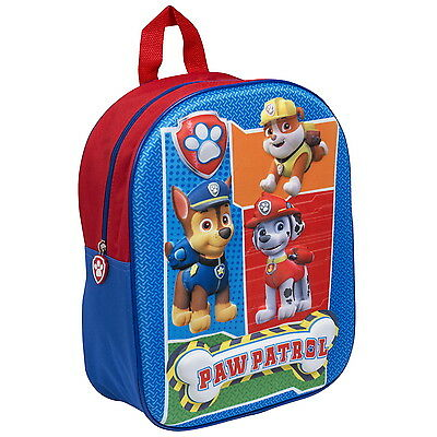 NEW OFFICIAL Paw Patrol Boys / Kids 3D / EVA Backpack / Rucksack / School Bag