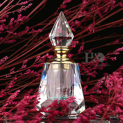 Vintage Crystal Perfume Bottle Empty Refillable Art Bottle Collectible Gifts 4ml