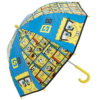 NEW OFFICIAL SpongeBob SquarePants Boys Girls Kids Bubble Dome Umbrella / Brolly