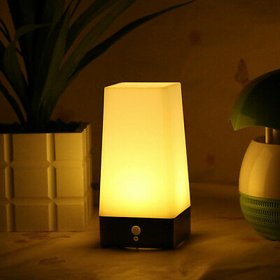 Wireless Motion Sensor Bedroom Night Light Battery Powered LED Table Lamp to