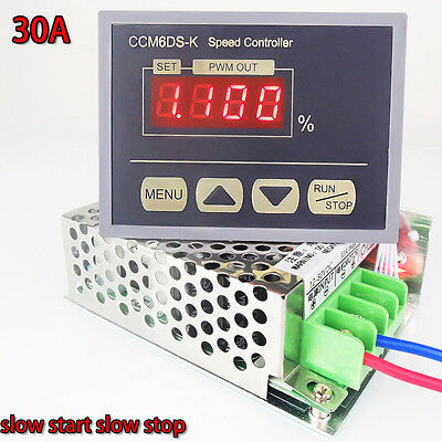 12-80V PWM DC Motor Speed Controller Governor With Digital Display Panel 30A