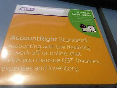 BRAND NEW SEALED MYOB AccountRight Standard 12 Month Subscription 1 Computer