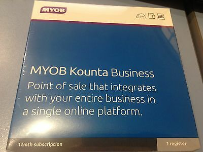 BRAND NEW SEALED MYOB Kounta Business12 Month Subscription 1 Register
