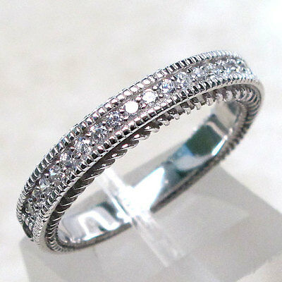Amazing Clear Stone 925 Sterling Silver Ring Size 5-10