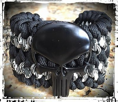 Punisher Wide Paracord Bracelet.