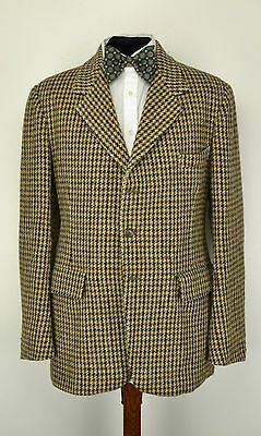 "West End Tailored HARRIS TWEED 3 Button JACKET 36"" Long Billings & Edmonds"