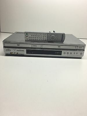 Sony SLV-D350P DVD Player VHS Recorder Combo Silver With Remote