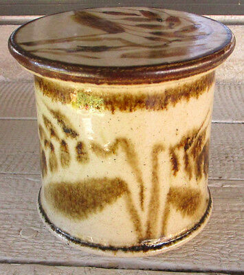 Nice Studio Art Pottery Stoneware Butter Keeper  Born Polly Handmade