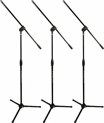 Ultimate Support Mic Stand With Three Way Adjustable Boom MC-40B Pro 3-Pack