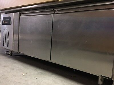 commercial under bench fridge two door