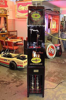 1940's Pennzoil Oil House Gas Station Display Rack Fully Restored