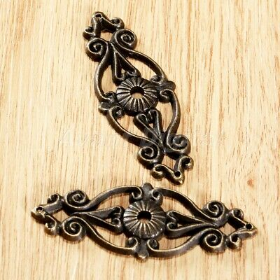 Classical Floral Style Decorative Wooden Chest Jewelry Gift Box Corner Bracket