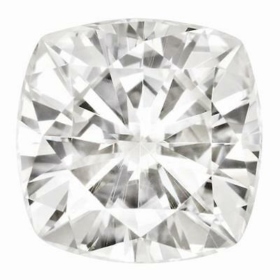 1 Cushion Cut Moissanite Forever Brilliant 7mm Diameter 1.70 tcw Loose Stone