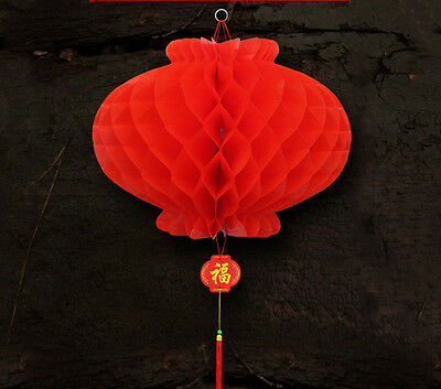 Lanterns Paper-cut Chinese Red Plastic Lanterns new year  wedding Festival