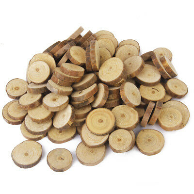 100 Natural Wooden Pine Tree Slice Disc Wedding Centerpiece Embellishments