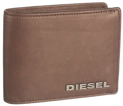 Diesel Jasper TriFold Wallet with Coin Pocket Brown in Gift Box