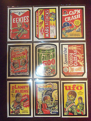2016 Kickstarter MARS ATTACKS Occupation Complete 9 Card Attacky Packages Set