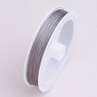 Nylon Coated Stainless Steel Beading Wire- 90m / 0.35mm / Silver