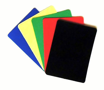 Set of 5 Casino Grade 100% Plastic Poker Size Cut Cards - Rounded Corners - 1
