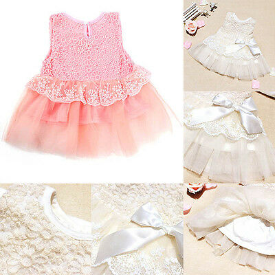 Newborn Baby Girl Kids Party Princess Pageant Tutu Kids Toddler Bow Flower Dress