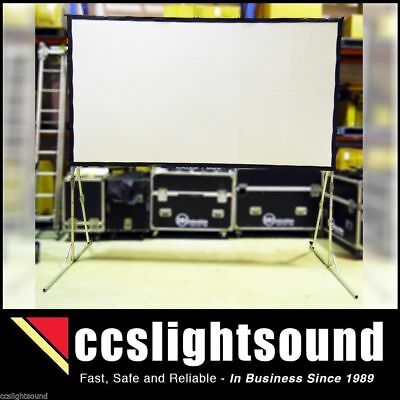 126-Inch 16:9 Projection Screen With Fast Fold Frame And Roadcase