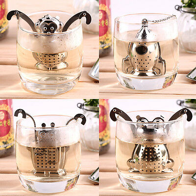 Stainless Steel Loose Leaf Infuser Tea Filter Herbal Spice Strainer Diffuser WL