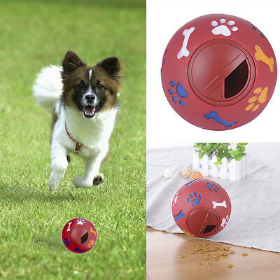 NEW Snack Plastic Dog Treat Dispensing Ball Interactive Toy