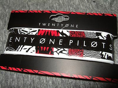 21 Twenty One Pilots Blurryface Logo Rubber Bracelet Wristband Licensed Jewelry